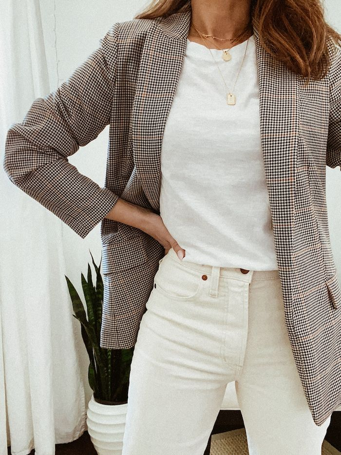 Spring outfit inspiration and new off-white jeans