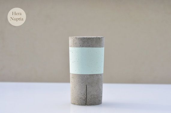 Small Vase In Concrete Made Entirely By Hand Can Be Used As Door