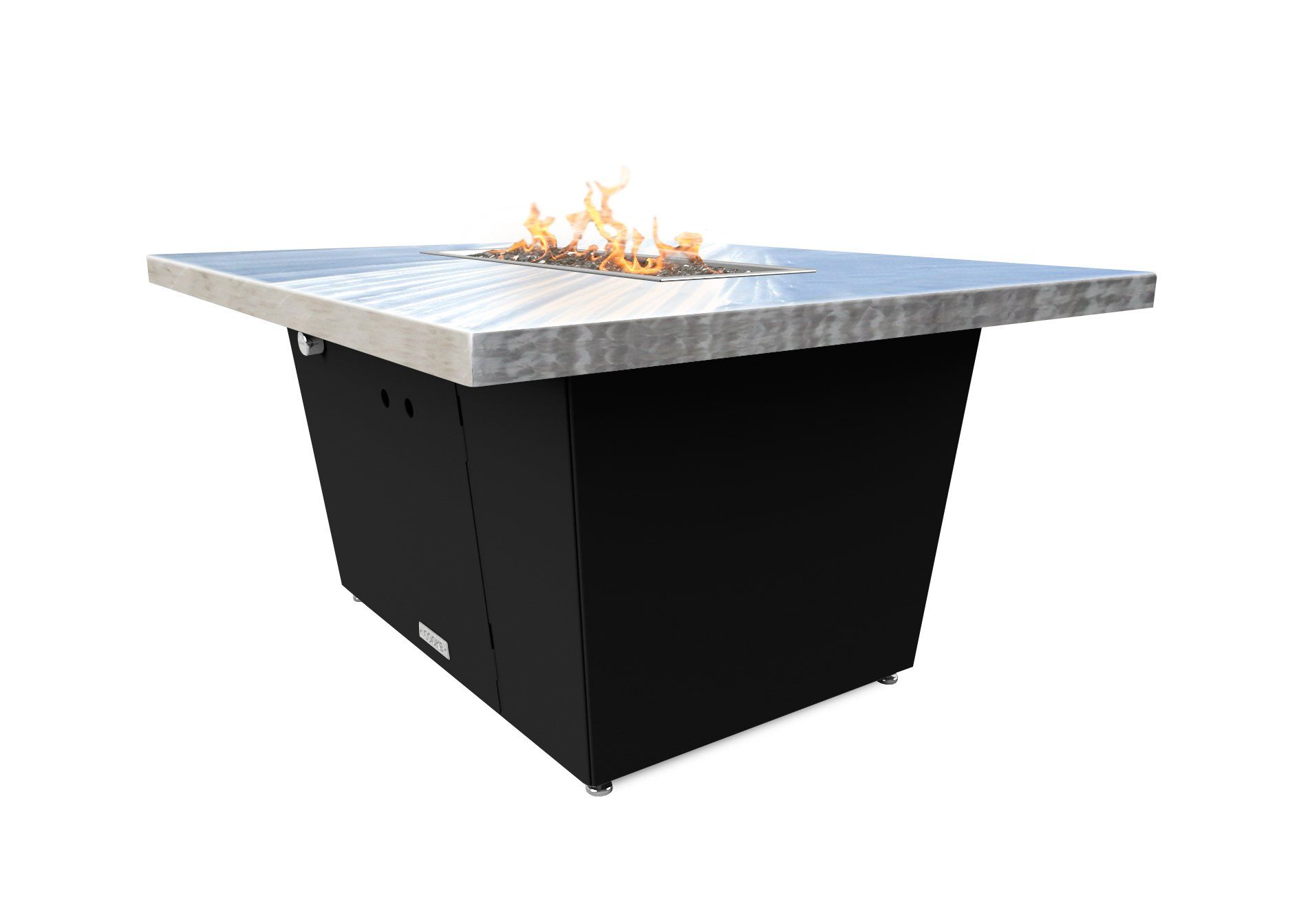 Palisades rectangular fire pit table xx chat height