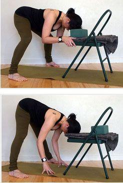 chair yoga - wide legged fold