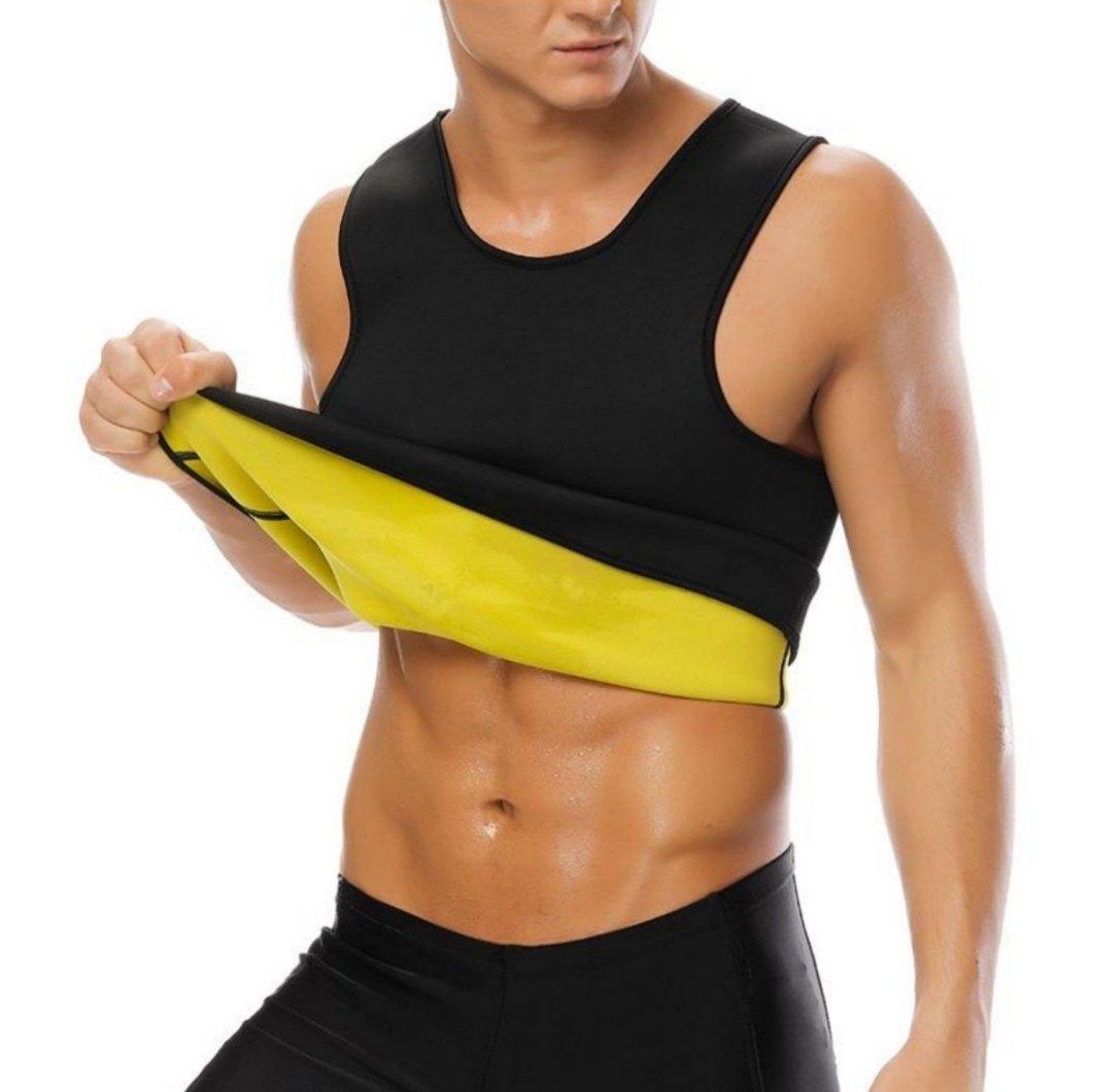 65a7399fa5 OTS TABU™ Men s Sweat Sauna Effect Vest  Body Shaper Tank Hot Thermo  Slimming Sauna Suit Weight Loss Black Shapewear  Natural Latex Neoprene  Waist Trainer