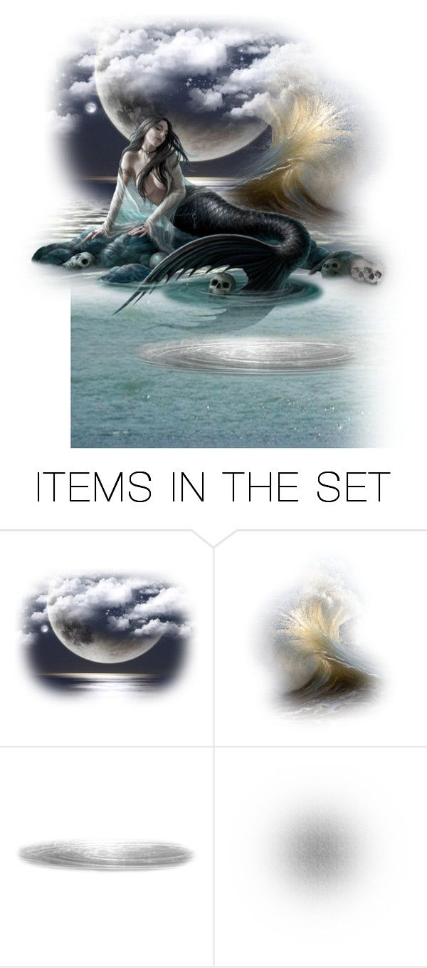 """""""Dark Mermaid..."""" by maryv-1 ❤ liked on Polyvore featuring art"""