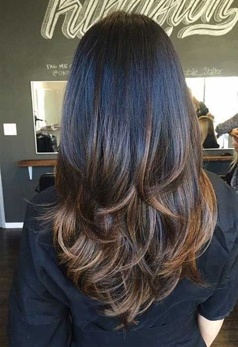 Long Straight Thick Dark Chocolate Brown Hair With Layers And Milk Chocolate Brown Balayage Quoteslodge Is All About Quotes Images Long Hair Styles Haircuts For Long Hair Thick Hair Styles