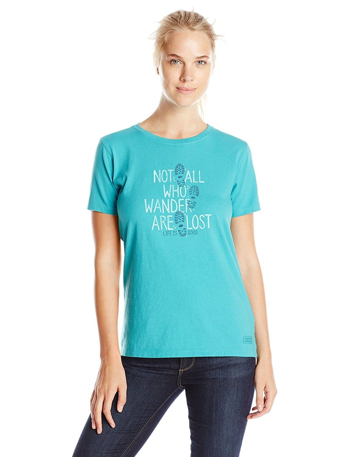 d59bd666 Women's All Wander Sans Crusher Tee - Teal Blue - CH11PM1M9U3,Women's  Clothing, Active, Active Shirts & Tees #women #clothing #fashion #style  #sexy #outfits ...