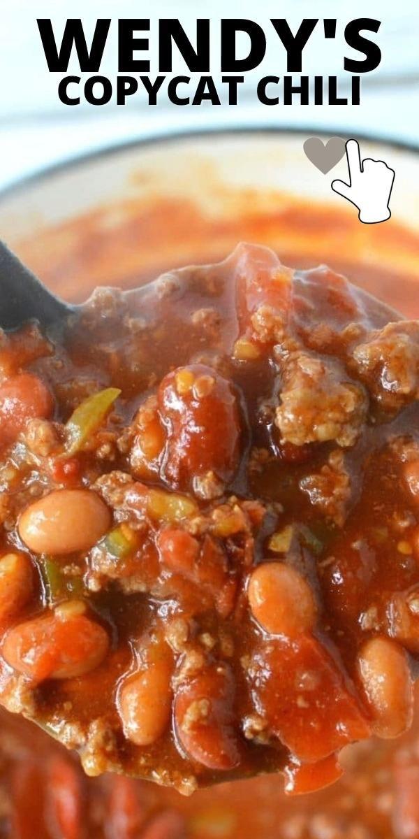 Easy to Make Wendy's Copycat Chili Dinner Recipe