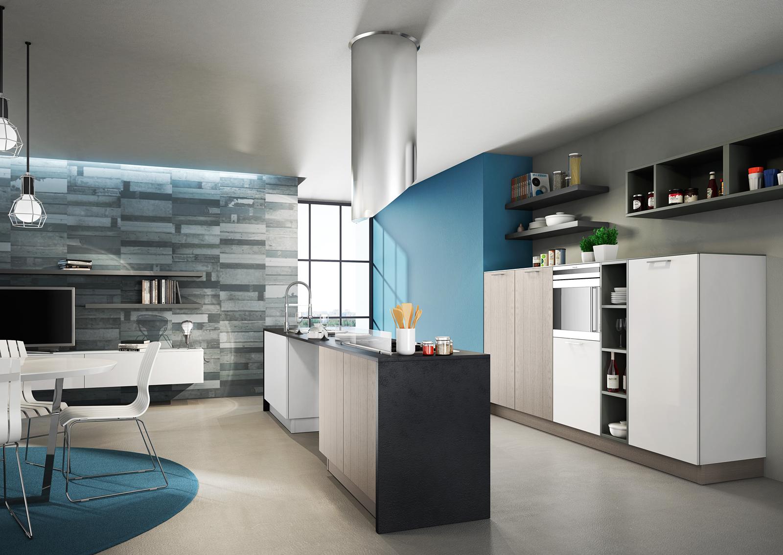 Cucina con l\'isola: il modello ideale a vista sul soggiorno | Interiors