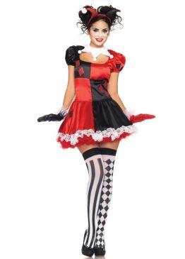 Halloween Party Kleding.Red Harlequin Halloween Circus Costume Verkleedopties Las