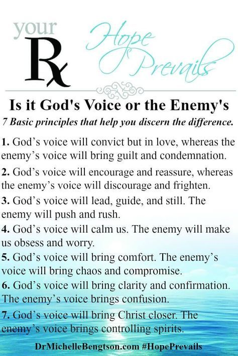 How Can I Discern the Voice Of God From the Enemy? | Dr. Michelle Bengtson