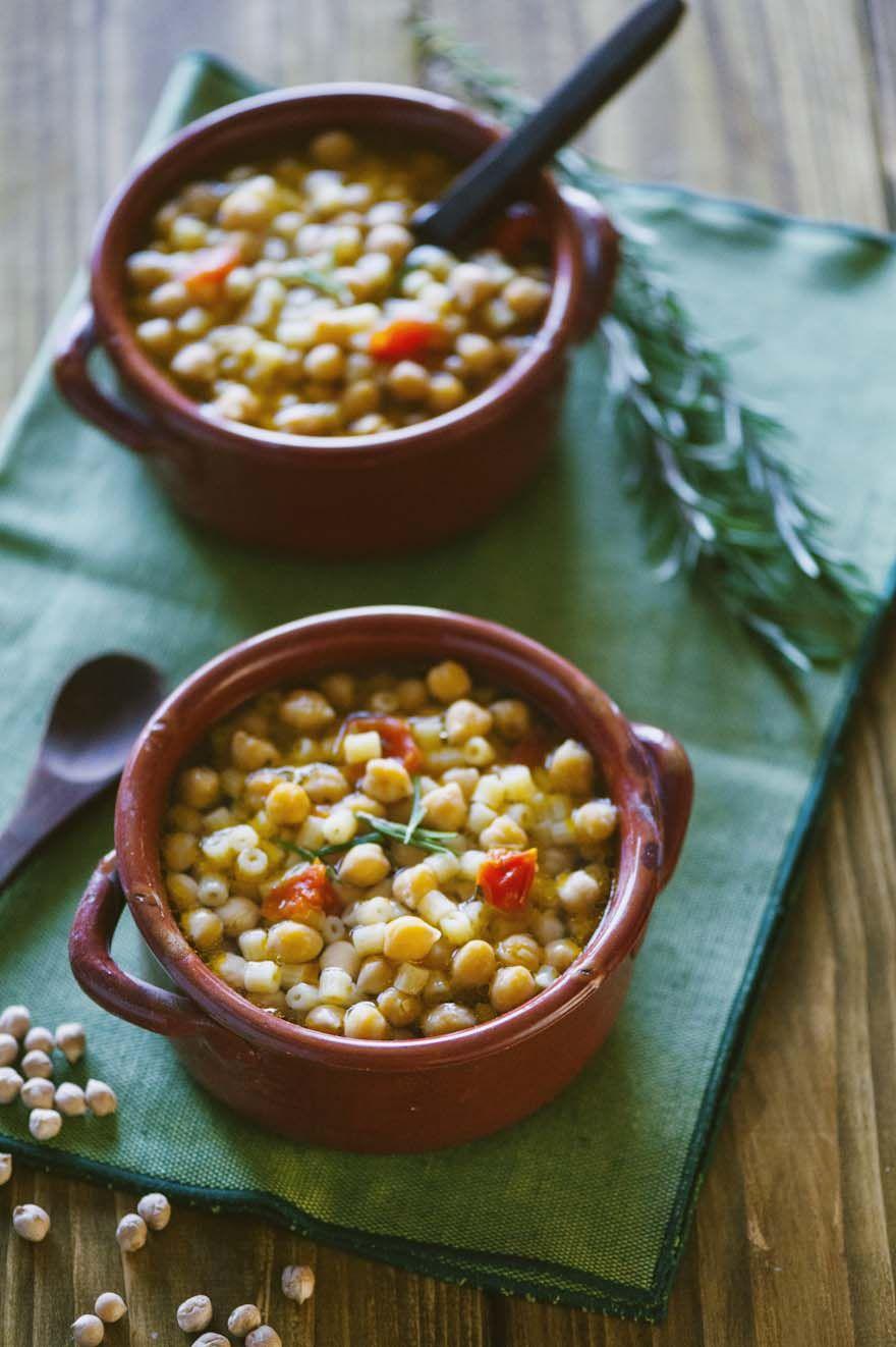 Pasta e ceci ricetta tutte le ricette di sonia for Cucinare vegetariano