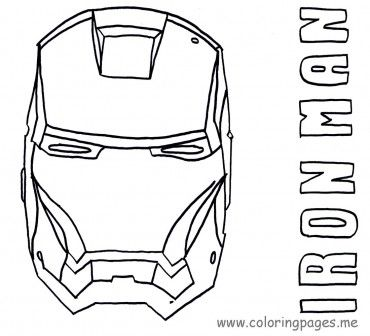 Heroes Iron Man Coloring Pages Kid activities Pinterest Iron
