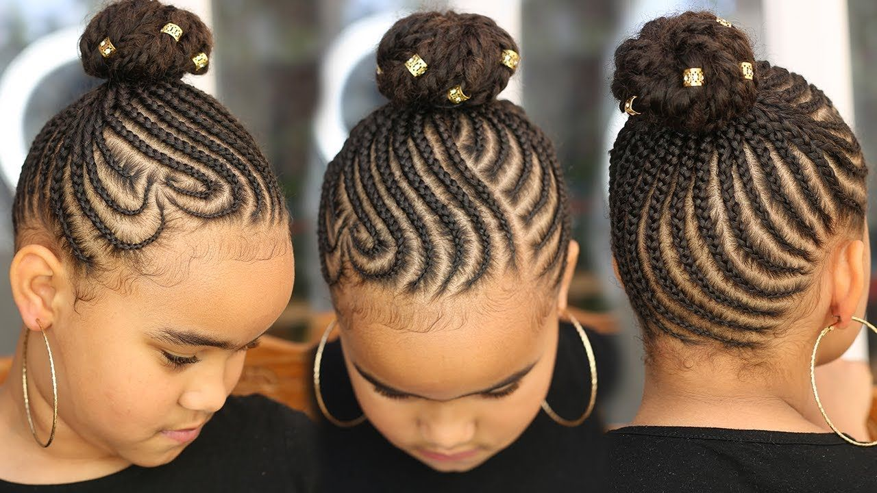Super Cute Back To School Cornrows Kids Natural Hair