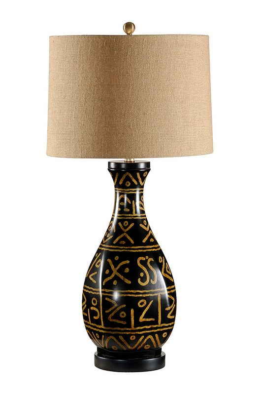 African Lamp Base Design, African Table Lamps