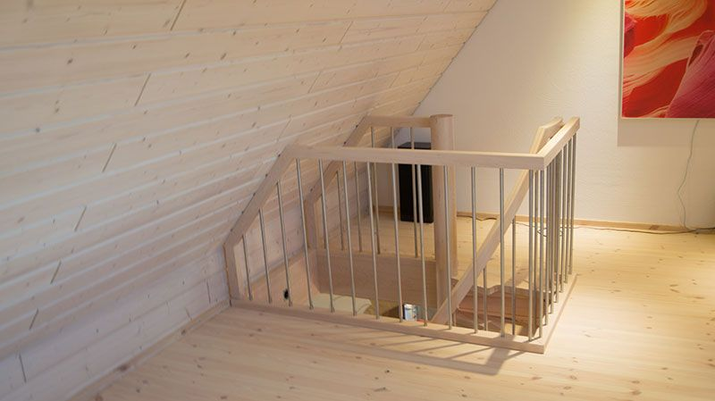 raumspartreppen tiny house stairs treppe dachboden. Black Bedroom Furniture Sets. Home Design Ideas