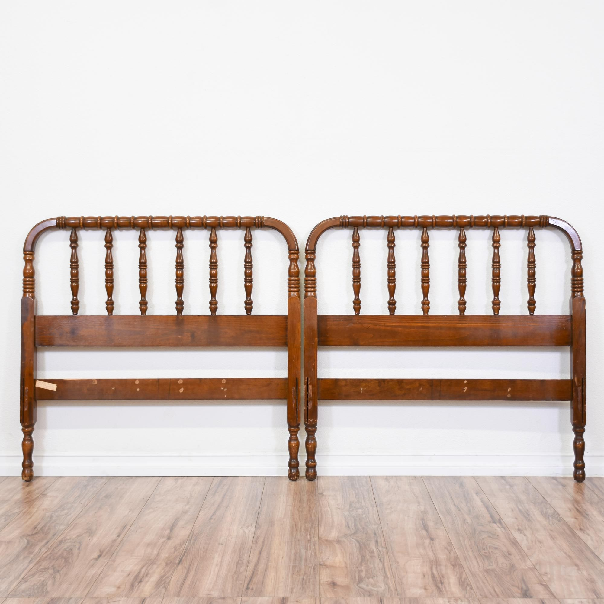Carved Cherry Jenny Lind Twin Sized Bedframe