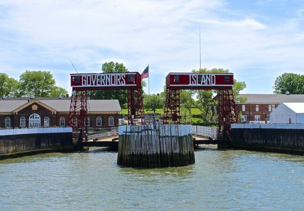 Arrival port of Governors Island, NYC