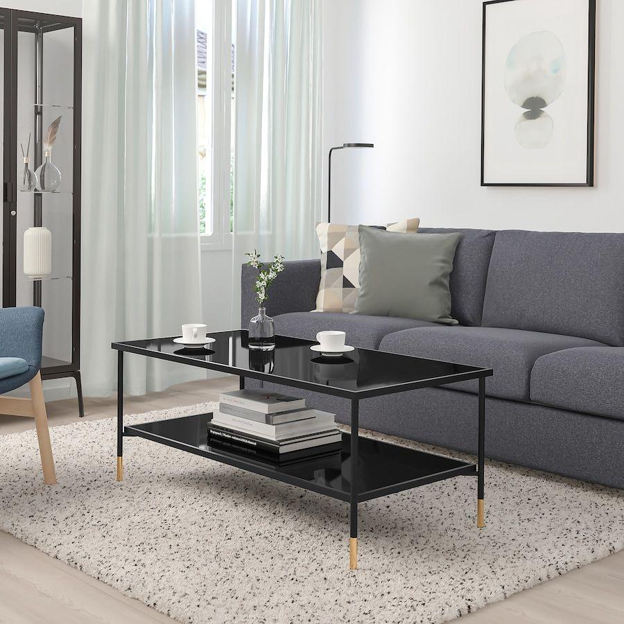 Asperod Stolik Kawowy Czarny Szklo Czarny 115x58 Cm Ikea Glass Table Living Room Coffee Table Ikea Living Room [ 900 x 900 Pixel ]