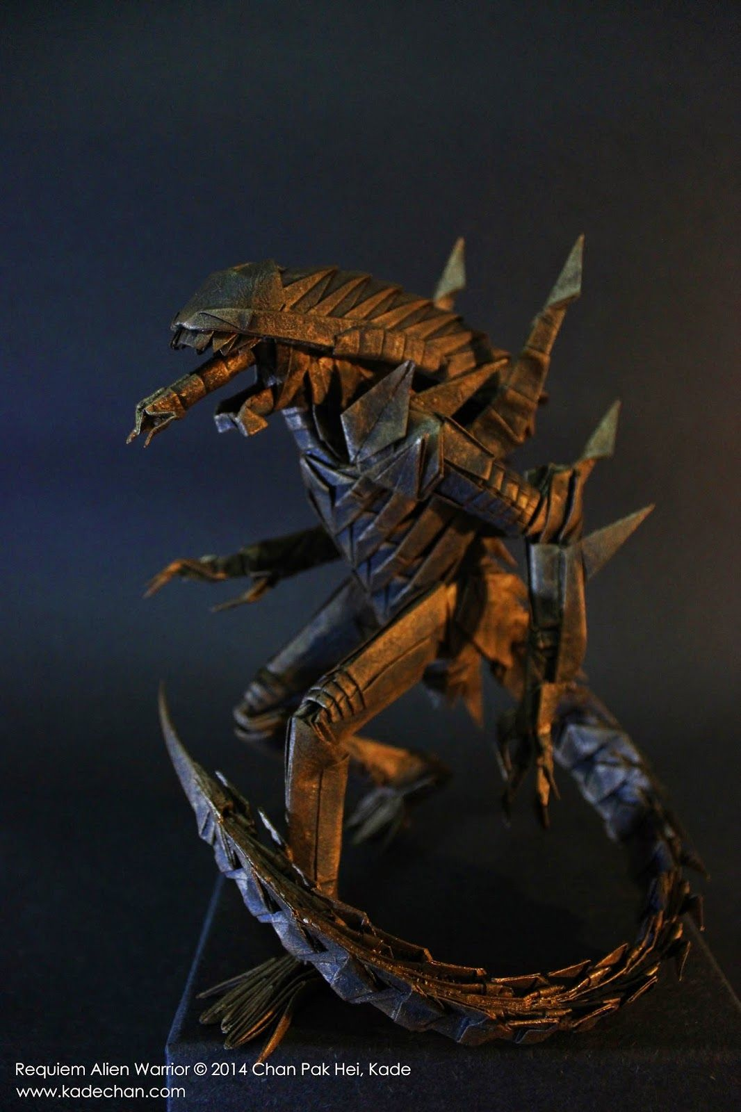Kade chan origami blog july 2014 origami hard to believe this is origami alien warrior by kade chan jeuxipadfo Images