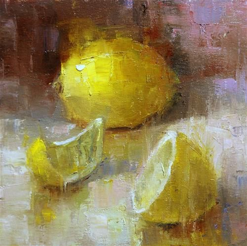 """More Lemons"" - Original Fine Art for Sale - © Julie Ford Oliver"