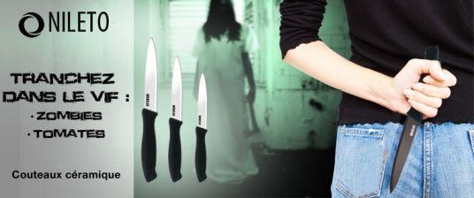 Une façon comme une autre de faire de la pub pour les couteaux en céramique ... !