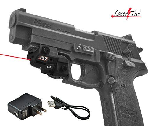 Lasertac RLX-SR Rechargeable Subcompact Red Laser Sight for