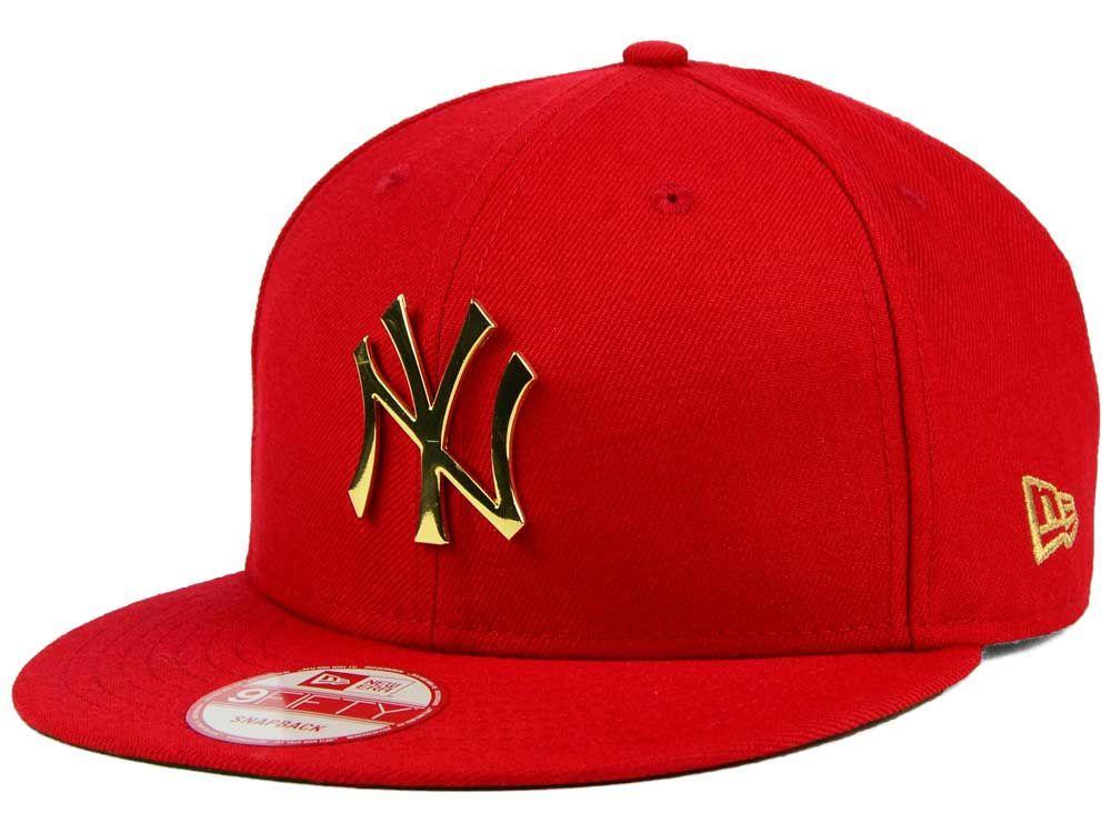 New York Yankees New Era Mlb League O Gold 9fifty Snapback Cap Snapback Mens Hats Baseball Outfits With Hats