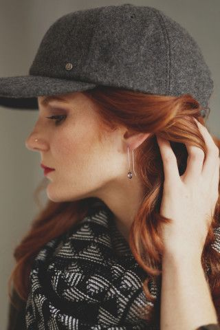 Simple and cute, these Circle Drop Earrings are a classic accessory