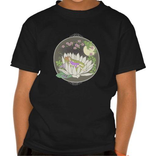 Sleeping Flower Fairy Moonlight Stars T Shirt, Hoodie Sweatshirt