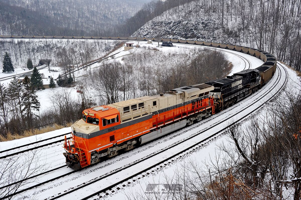 Train to colorado from pa - The Interstate Heritage Unit Leads A Pennsylvania Power Light Unit Coal Train Down The Mountain