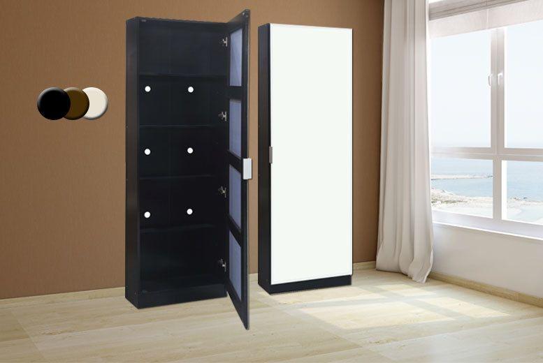 6 Tier Shoe Cabinet U0026 Mirror