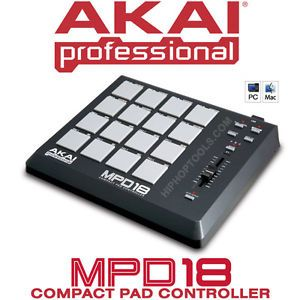 Akai MPD18 USB MIDI Drum Pad Controller with MPC Pads | Cool