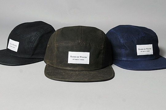 ba90701d541 Raised by Wolves Waxed Cotton 5-Panel Camp Caps