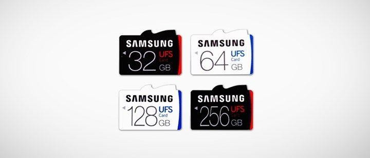 Samsung lança primeira linha de cartões de memória UFS do mundo