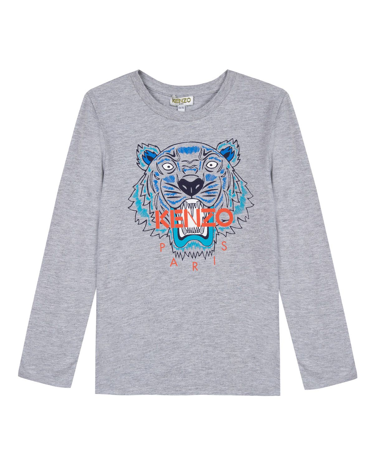 14728249 Kenzo Long-Sleeve Tiger Icon Tee, Size 14-16   Products   Pinterest ...
