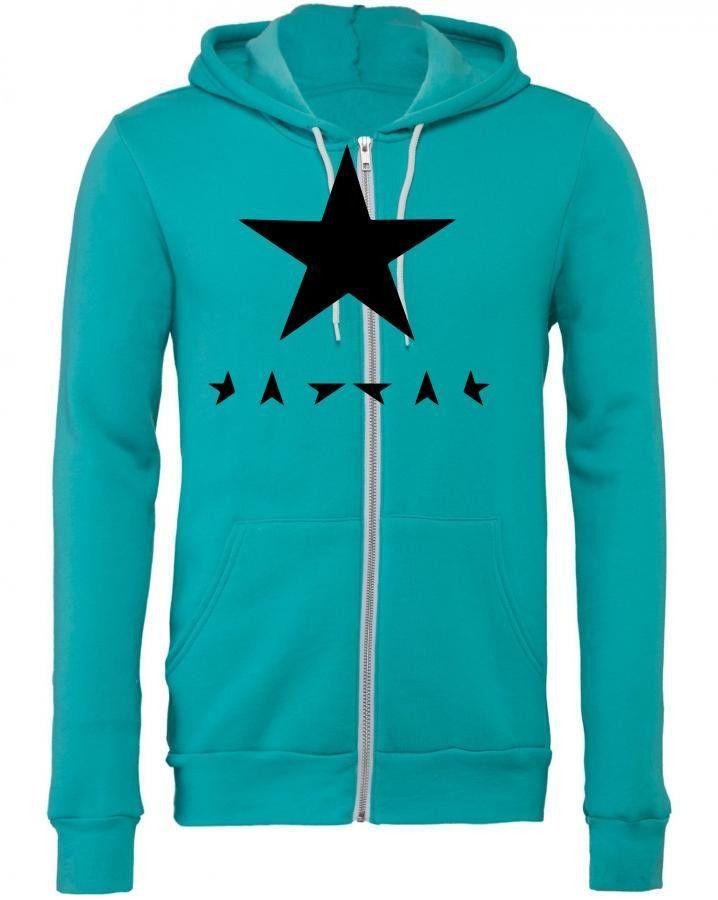 David Bowie Blackstar Zipper Hoodie