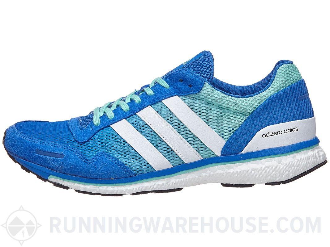 factory price f8737 96079 adidas adizero adios Boost 3 Men s Shoes Blue White Grn