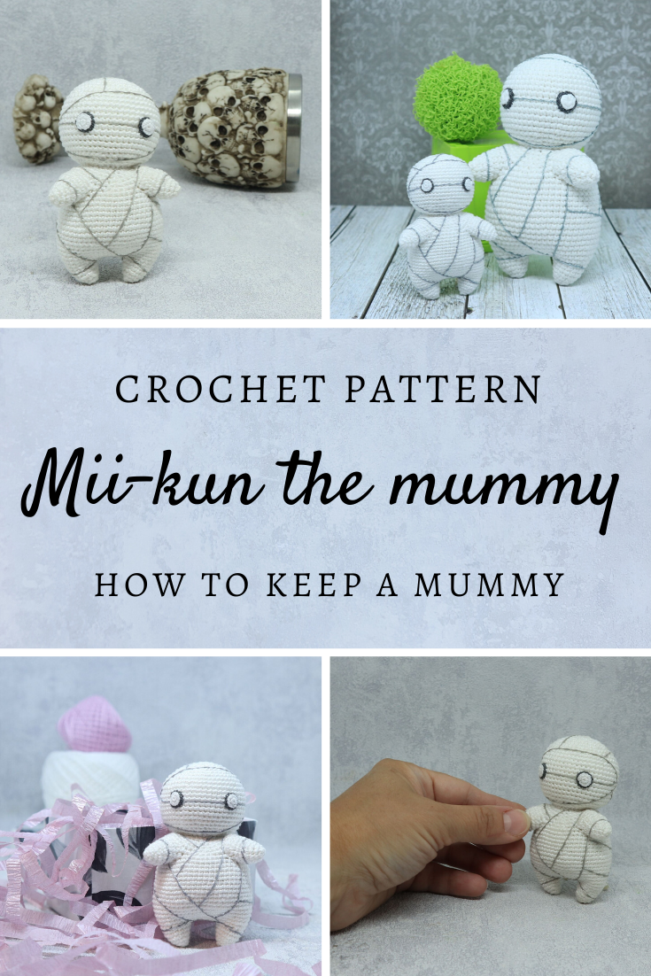 Plush Toy Mii Kun The Mummy Crochet Pattern Anime Character Etsy In 2020 Crochet Patterns Crochet Amigurumi Free Patterns Crochet See more of how to keep a mummy on facebook. pinterest
