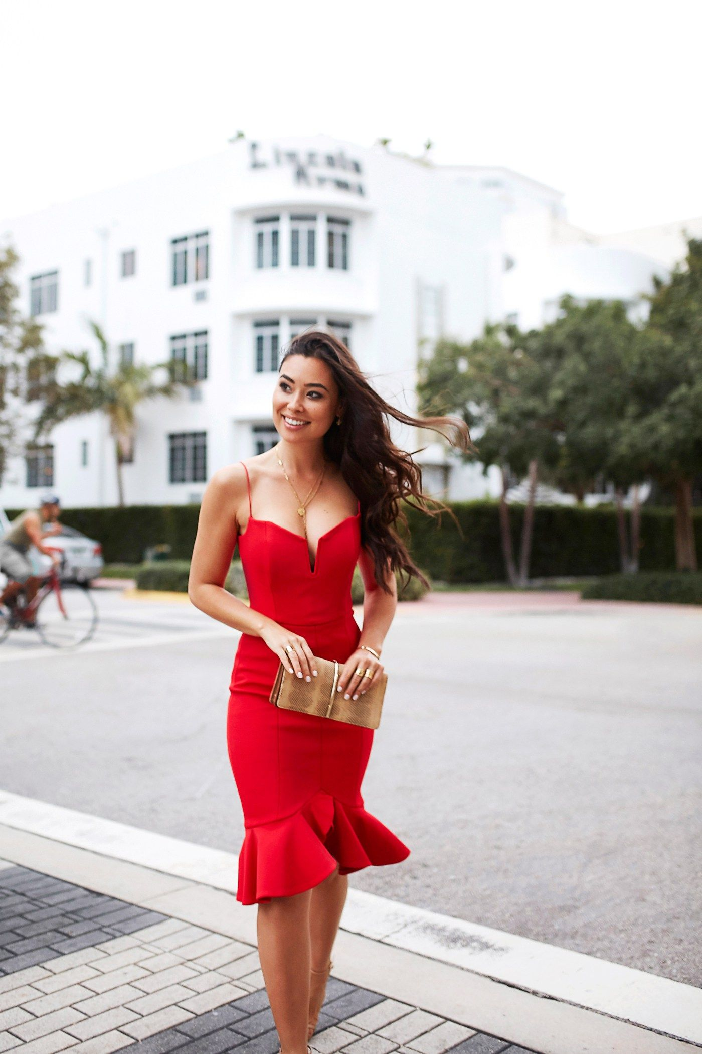 Little Red Nicholas Dress In Miami With Love From Kat Red Dress Outfit Night Outfits Day Dresses