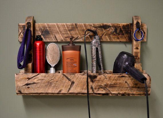 Hair Dryer Rack Styler Straightener Curler Stall By Snarlingbunny