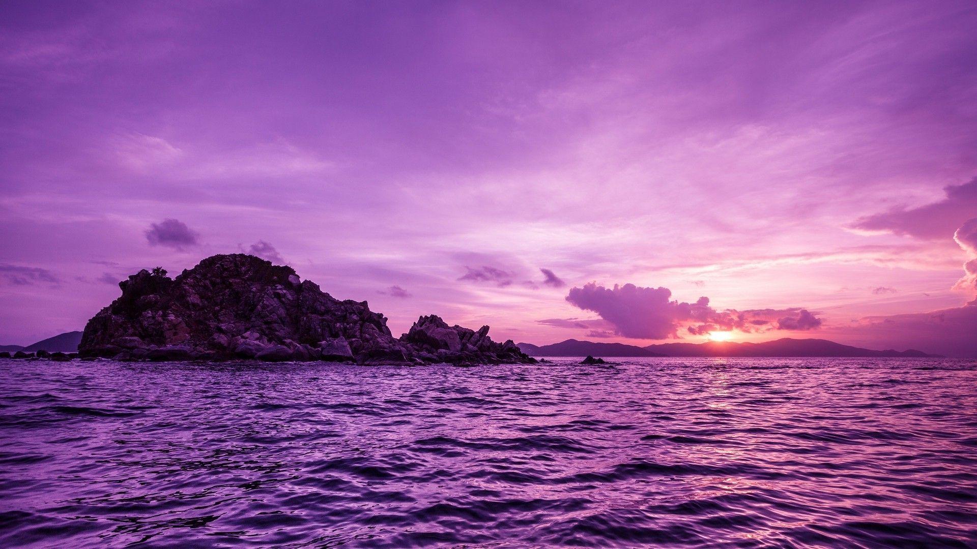 Purple Sea HD desktop wallpaper Fullscreen Mobile Dual Monitor