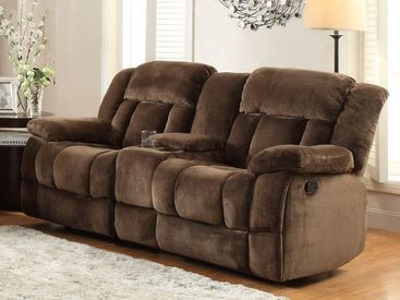 Homelegance Laurelton Dual Reclining Loveseat With Console In ...