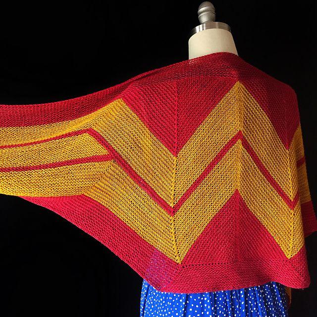 KAL Wonder Woman Wrap   Ganchillo y Tejido