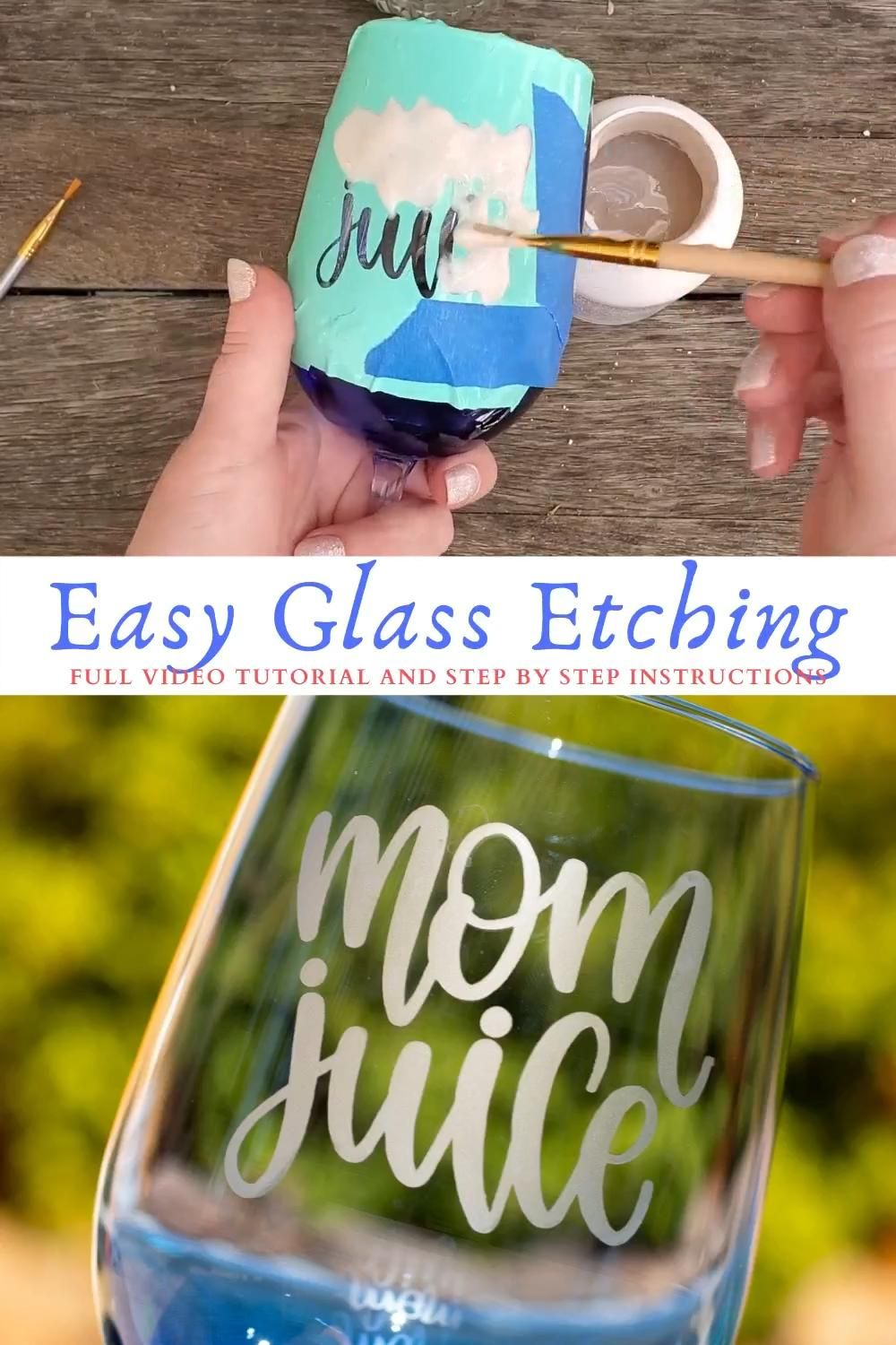 DIY Glass Etching with Cricut