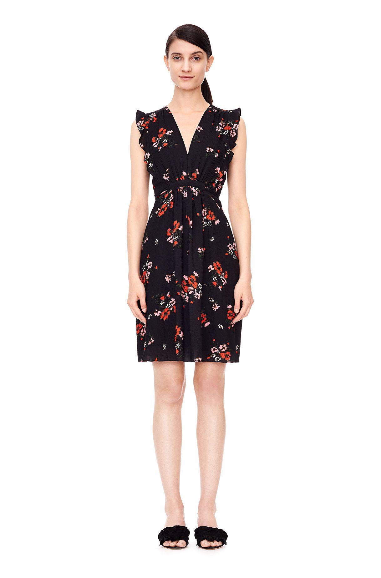 e41dd905dba A refined silk dress in a signature floral.