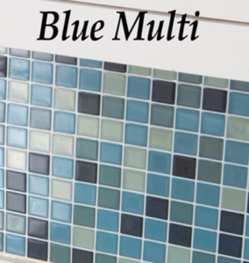 Wall Tiles Easy To Apply Blue Multi Mosaic Back-splash 10 Inches ...