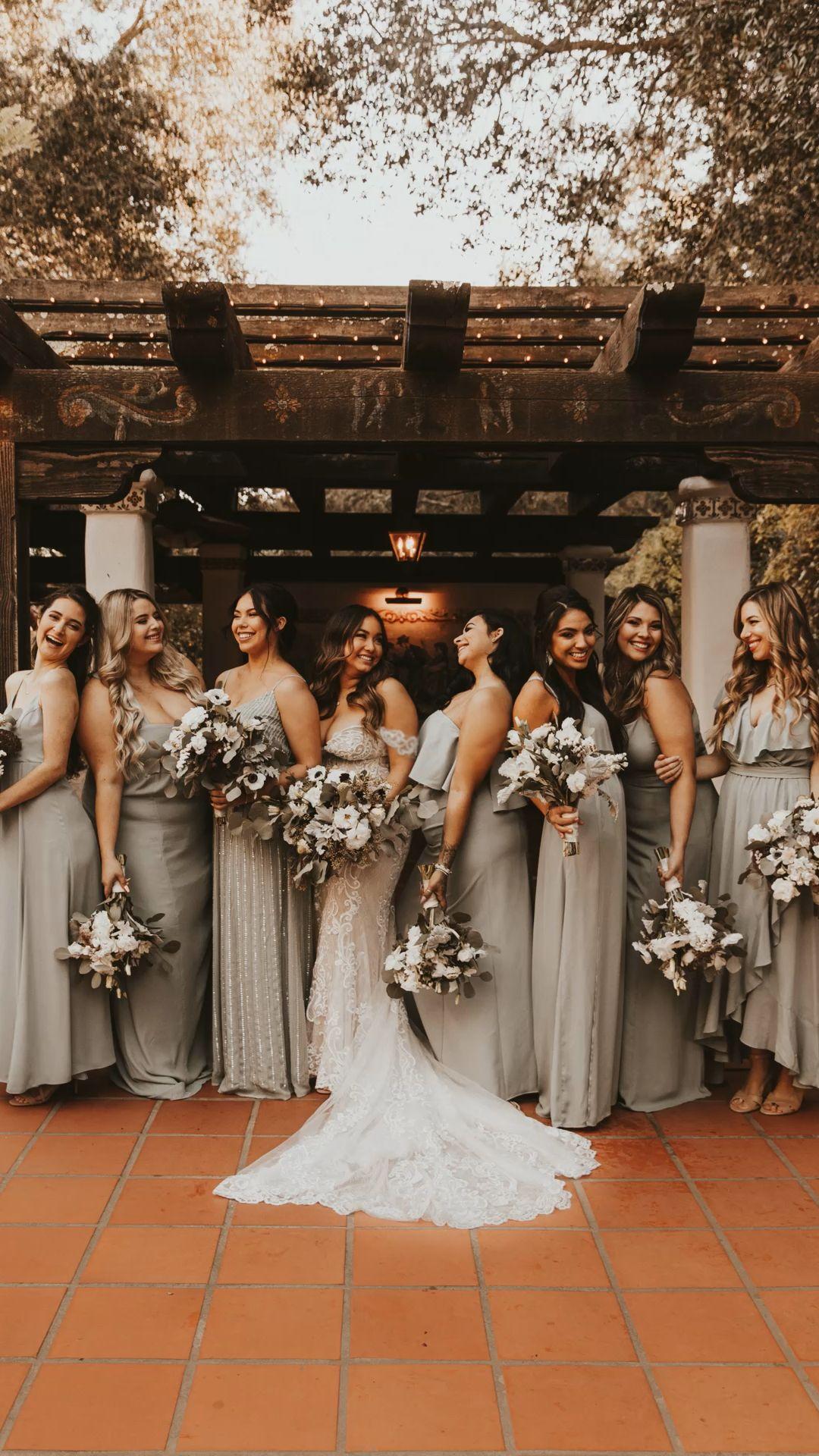 Bridesmaids boho wedding