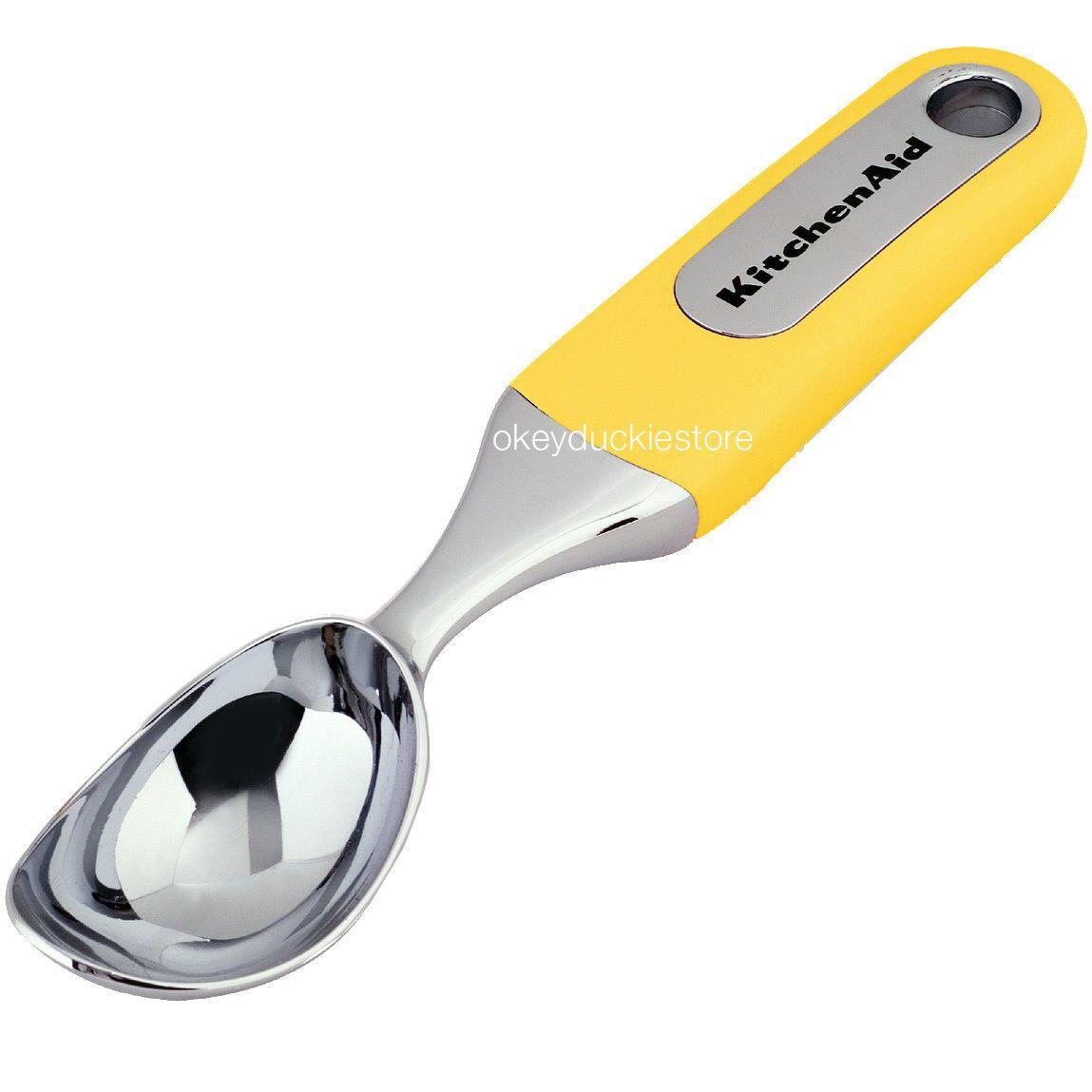 KitchenAid Assorted LEMON YELLOW Ice Scoop Scissors Tong Can Opener ...
