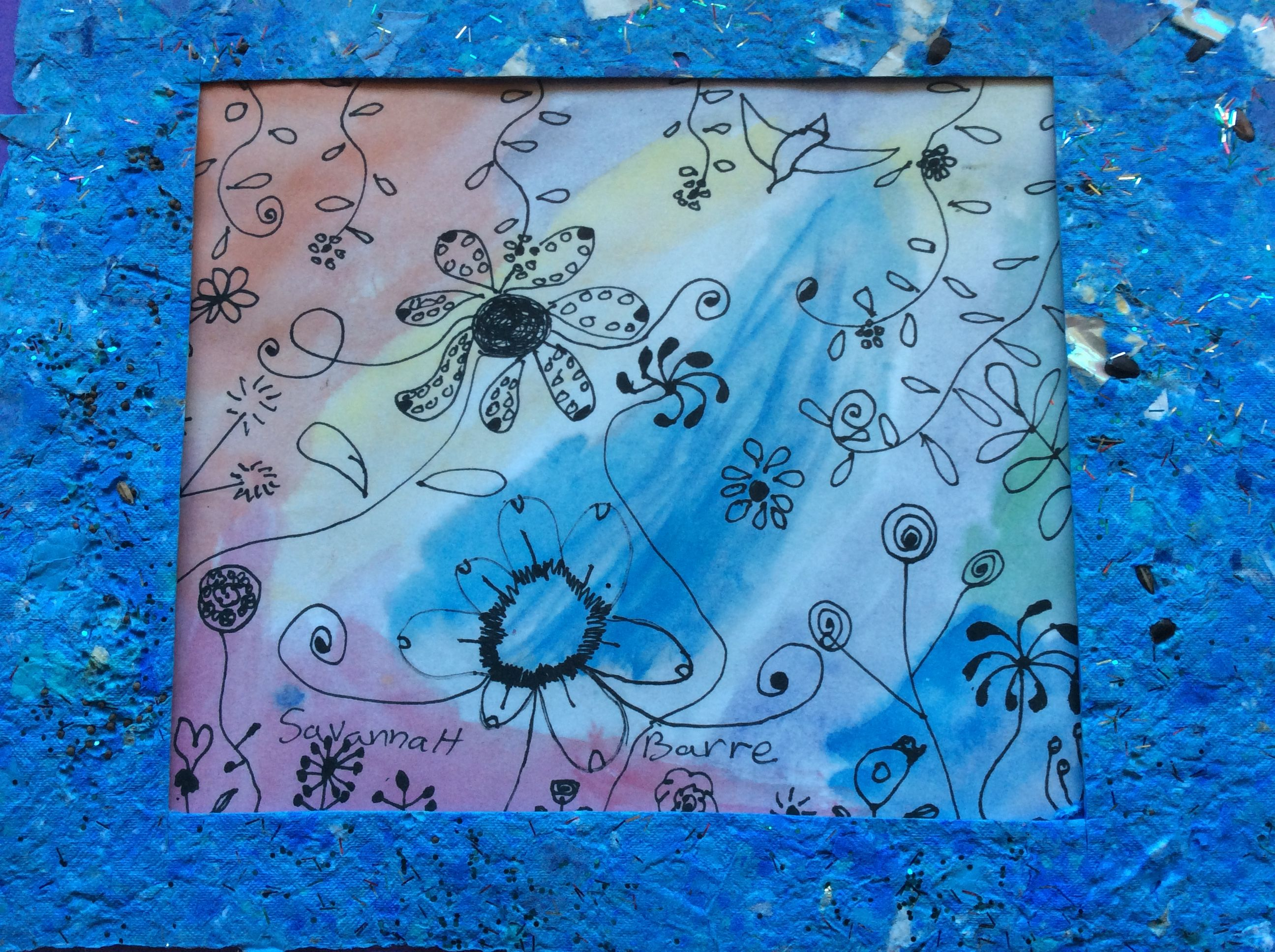 Savannah's Handmade Paper garden. Boulder Oaks Elementary