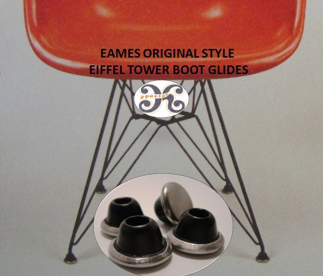 rubber dome glides for eames herman miller eiffel tower base