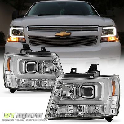 2007 2017 Chevy Suburban Tahoe Avalanche Led Drl Projector Headlights Set