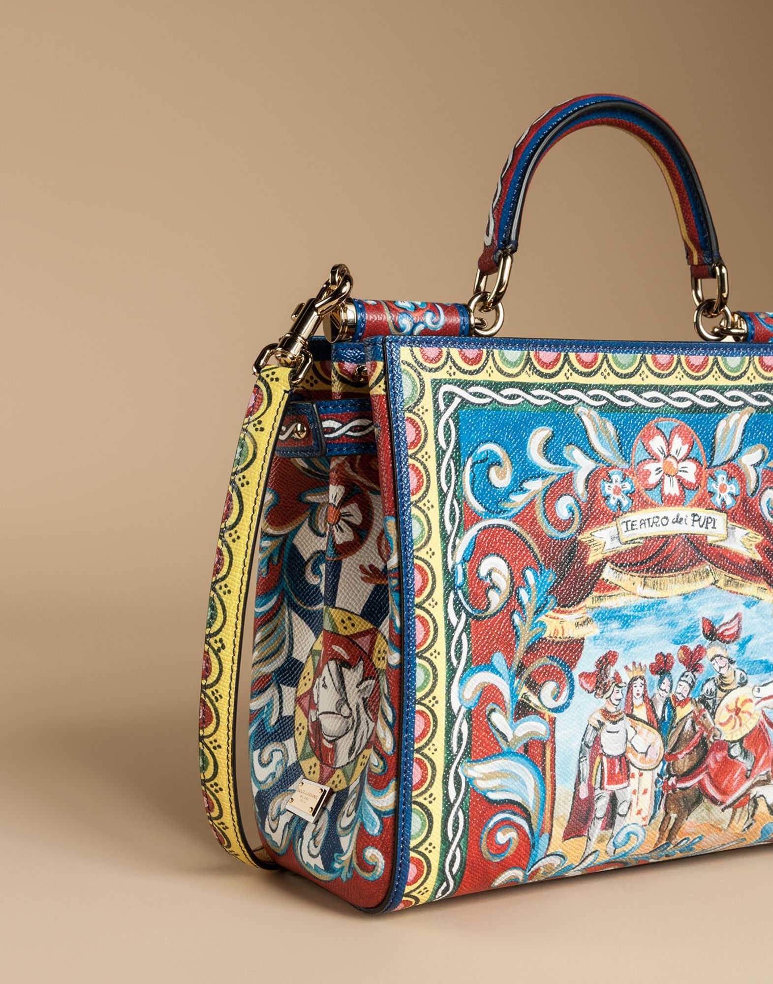3c751a33054e Sicily shopping bag in printed dauphine leather